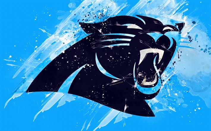 Download wallpapers Carolina Panthers, 4k, logo, grunge