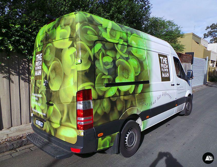 Van Wrap Florist Mercedes Benz Sprinter Car Graphics