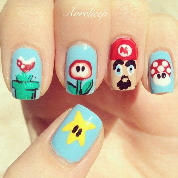 Mario nails! #nail #nails #nailart | Awesome Nails | Pinterest ...
