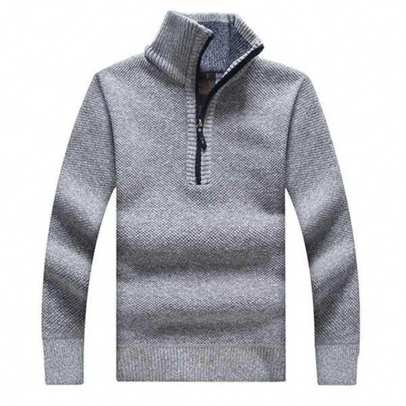 Men/'s Warm Cardigan Knitwear Thick Sweater Zipper Leisure Winter Fleece Jacket