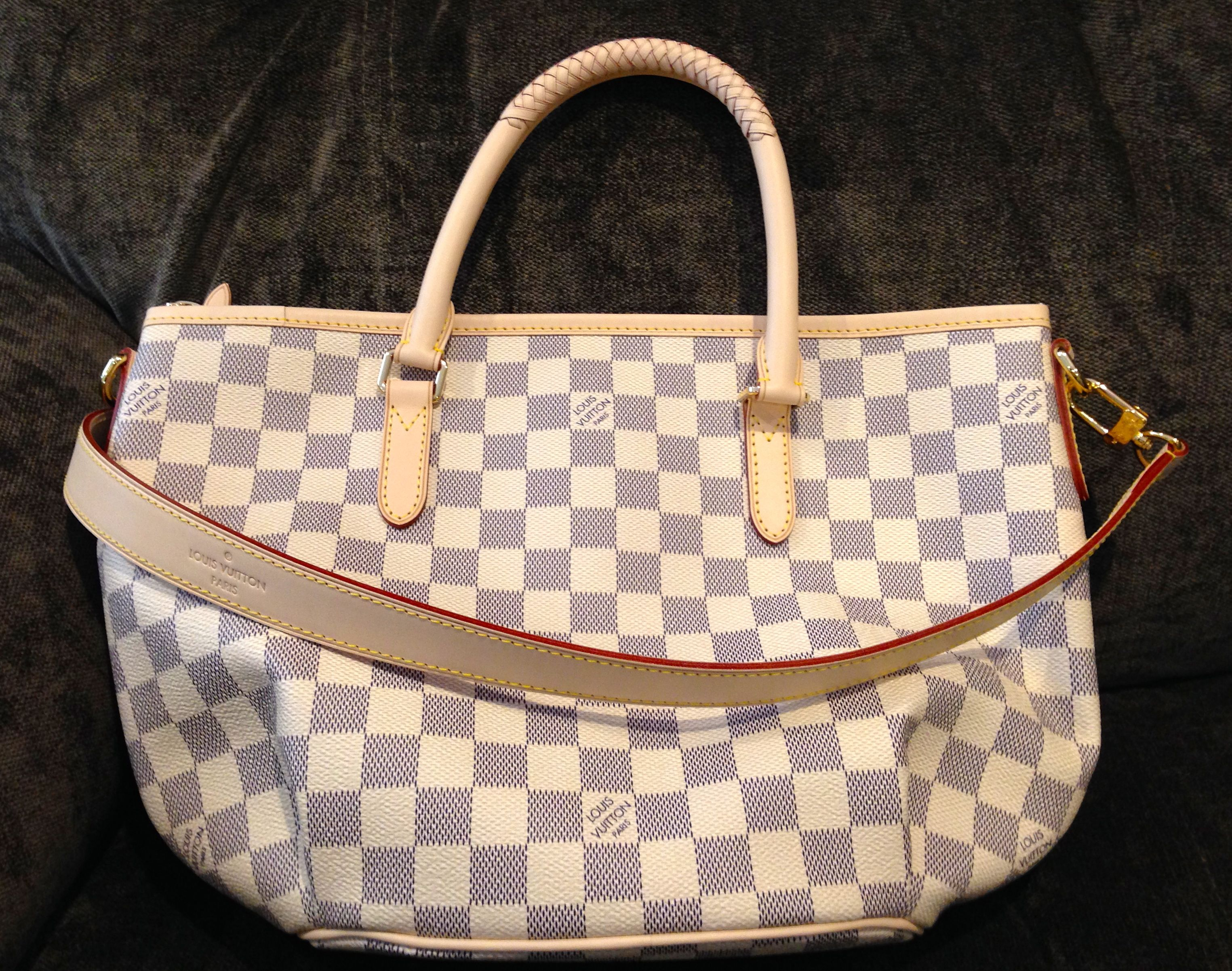 Louis Vuitton Riviera PM in Damier Azur. New for Spring 2014. My brand new  bag…love it!  -) 932c1512e5f4e