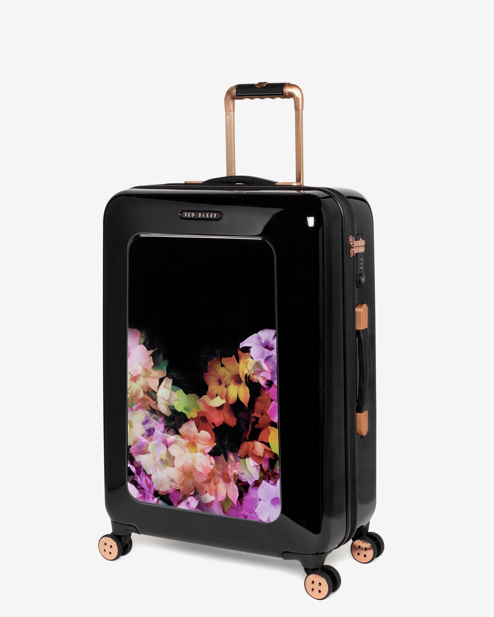 19dd07101 Medium cascading floral suitcase - Black