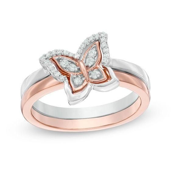 Zales Heartbeat Ring in 14K Rose Gold