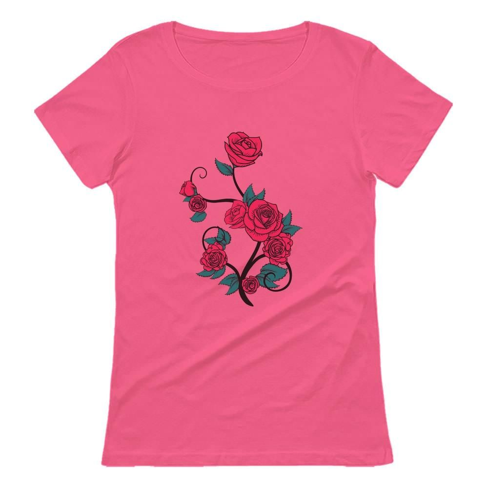 Roses Summer Fashion Women T-Shirt