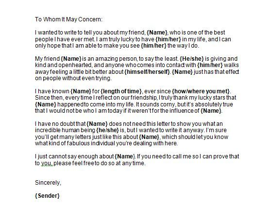 Reference letter 23 side board Pinterest Reference letter - personal recommendation letter