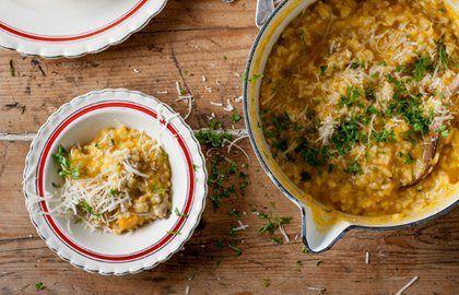 Pumpkin & Turkey Risotto Recipe - Great British Chefs