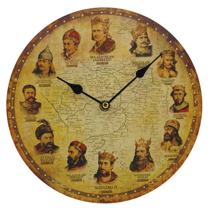 Wall Clock Polish Kings 10 Inches Home Accessories Products For The Home By Polish Souvenirs 644527001074 At Polart Polandbyma Wall Clock Clock Wall