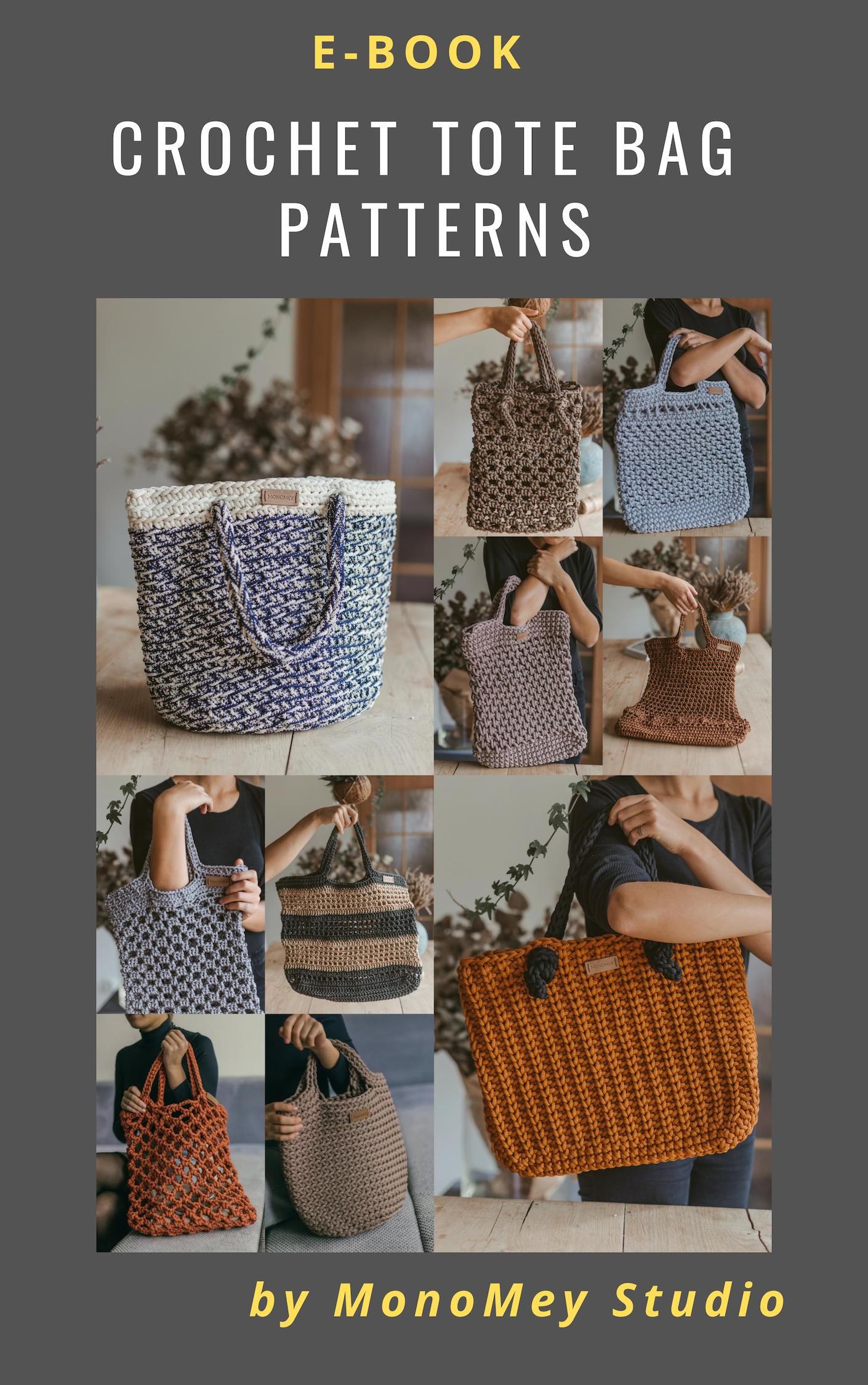 "Pair of 9/"" Black Square Plastic Macrame Craft Crochet Handbag Purse Handles"