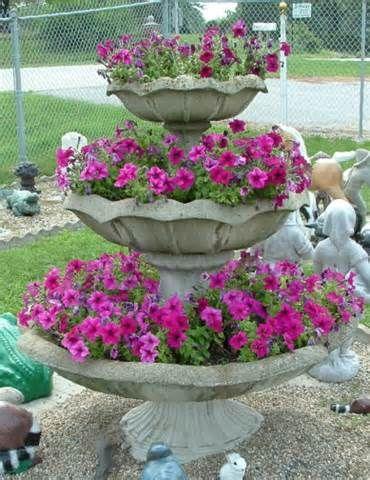 Three Tier Planter Yahoo Image Search Results Flower Pots Outdoor Tiered Planter Patio Flowers
