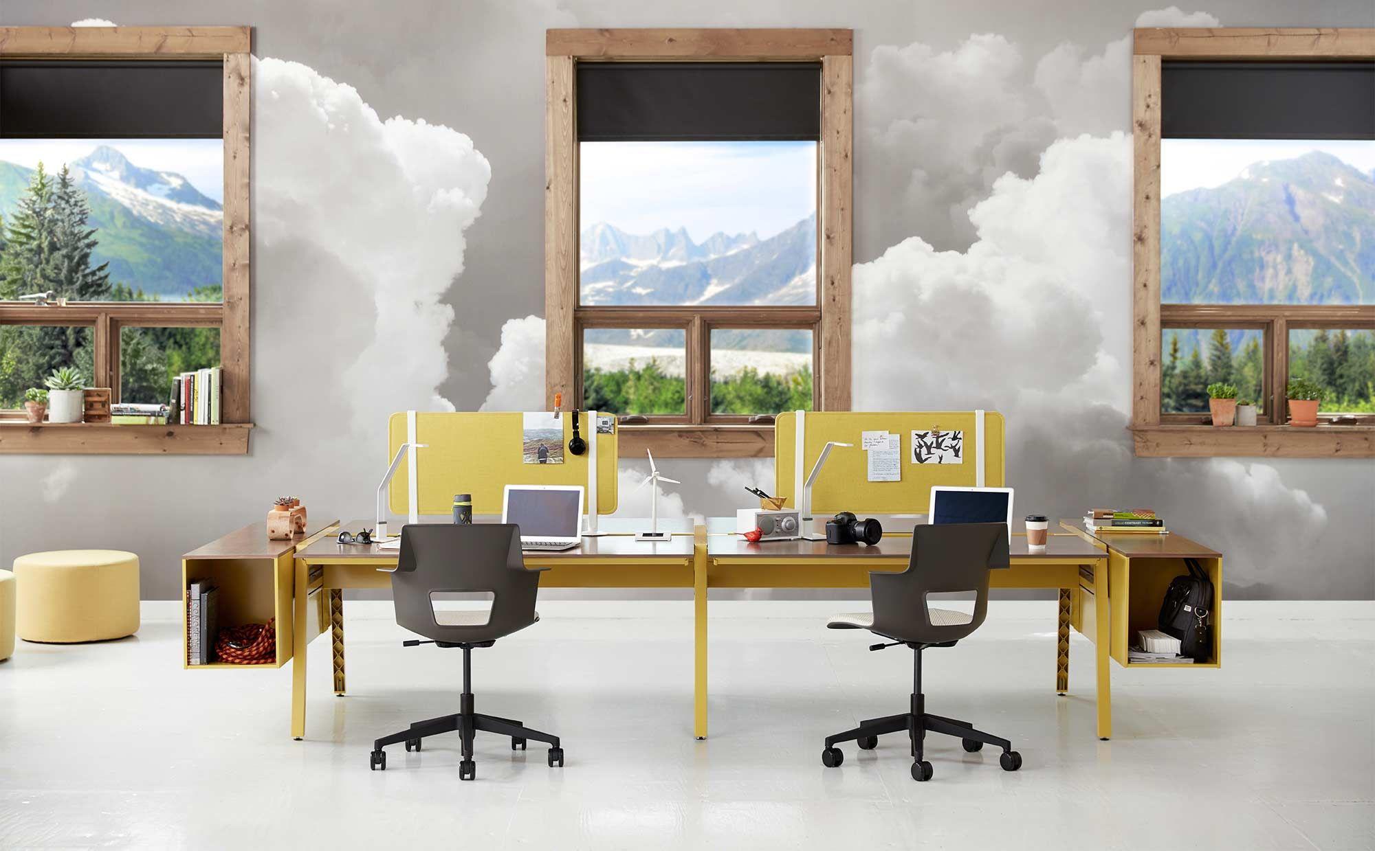 Bivi Modular Office Desk System Features | Turnstone