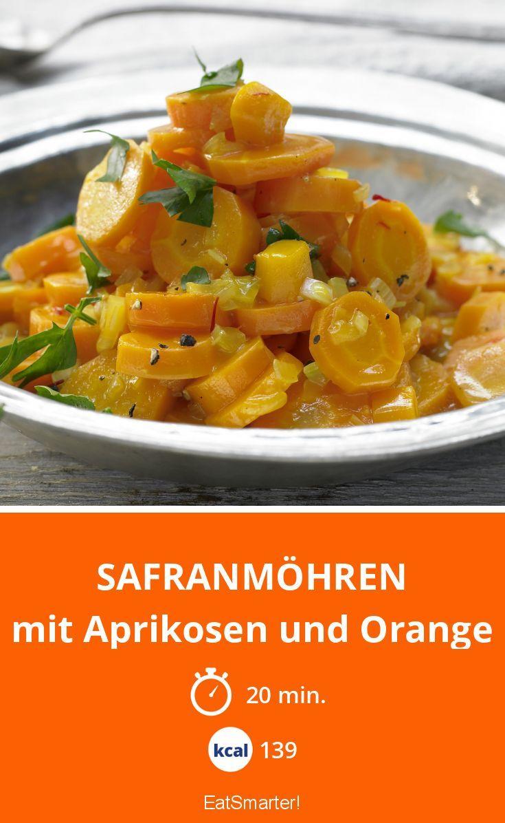 Safranmöhren - mit Aprikosen und Orange - smarter - Kalorien: 139 Kcal - Zeit: 20 Min. | eatsmarter.de