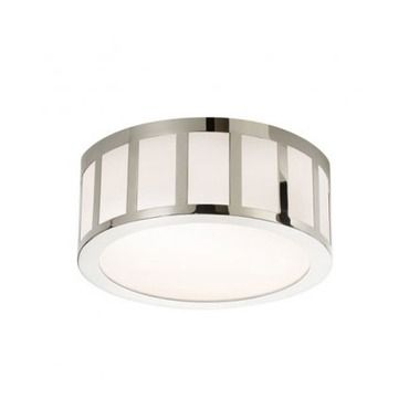 Sonneman 2525 capital led flushmount ceiling fixture with white glass shade polished nickel indoor lighting ceiling fixtures flush mount