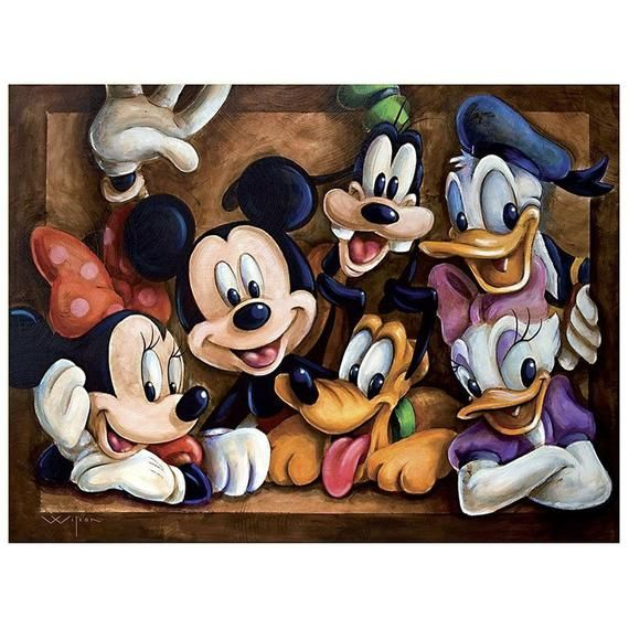5D DIY Diamond Painting Mickey Mouse Embroidery Set Cross Stitch Home Wall Art Decor Gift Mosaic Crafts Kit Set Full Drill Gifts For Friends