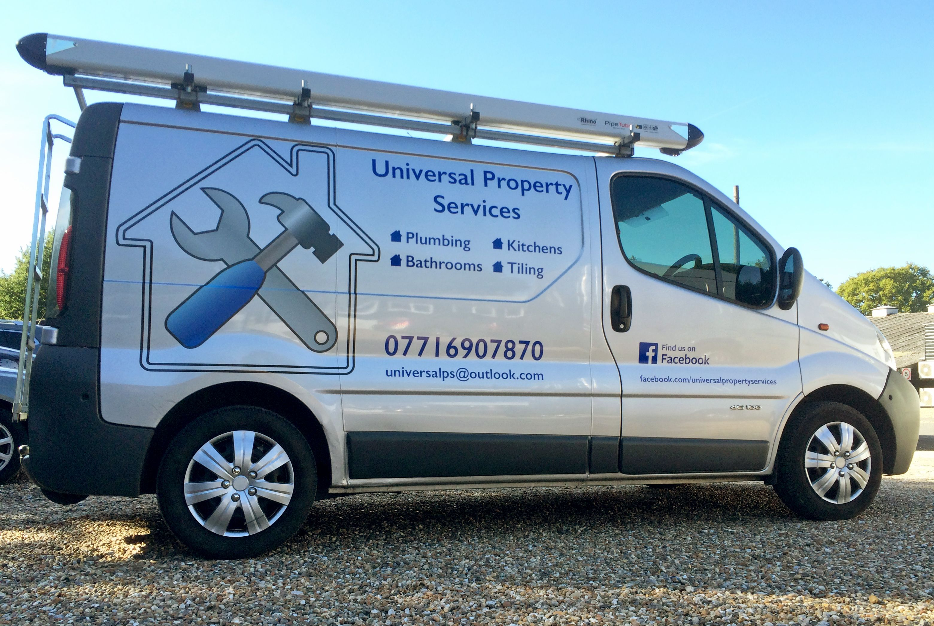 van sign writing templates - universal property services van signwriting by xtreme