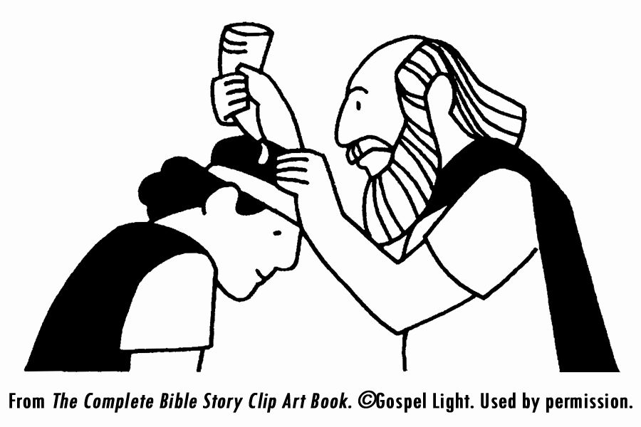 Samuel Anoints David Coloring Page Elegant King Saul and