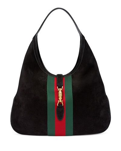 dc86ec10440 GUCCI Jackie Soft Suede Hobo Bag