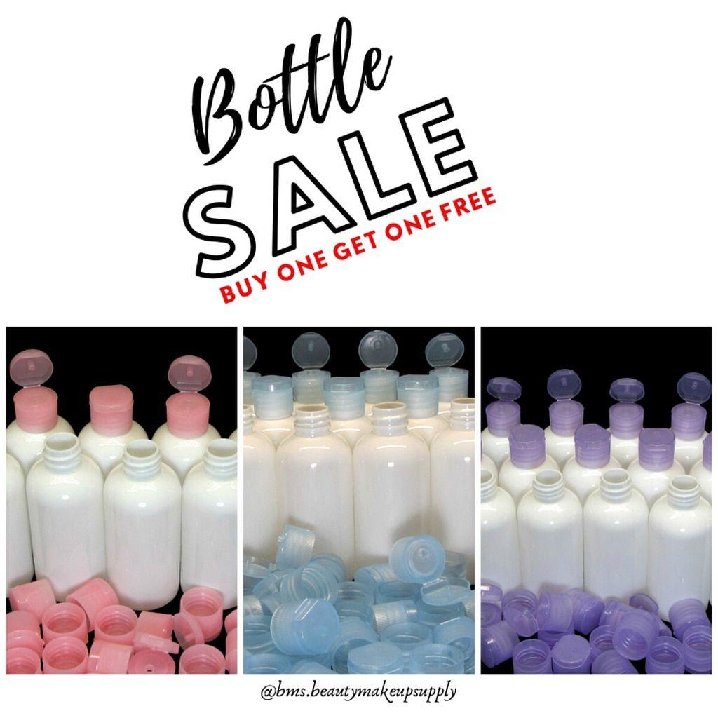 Plastic Pet Liquid Bottles Snap Close Flip Top Cap 3 Oz White