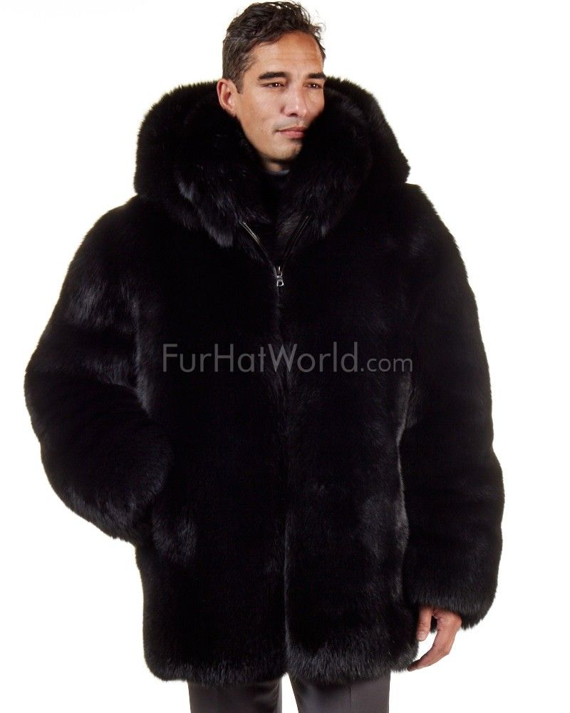 25699470d1 The Hudson Mid Length Black Fox Fur Coat for Men in 2019 | Sean's ...