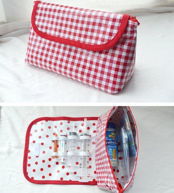 Tidy Tubie Pak - Travel Bag for Feeding Tube Supplies - Gtube, G/J ...