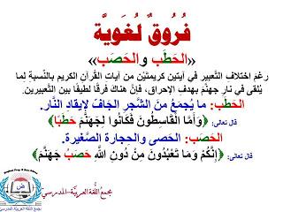 لمسات بيانيه وفوائد ولطائف قرانيه فوائد وفروق لغوية Arabi Math Wisdom