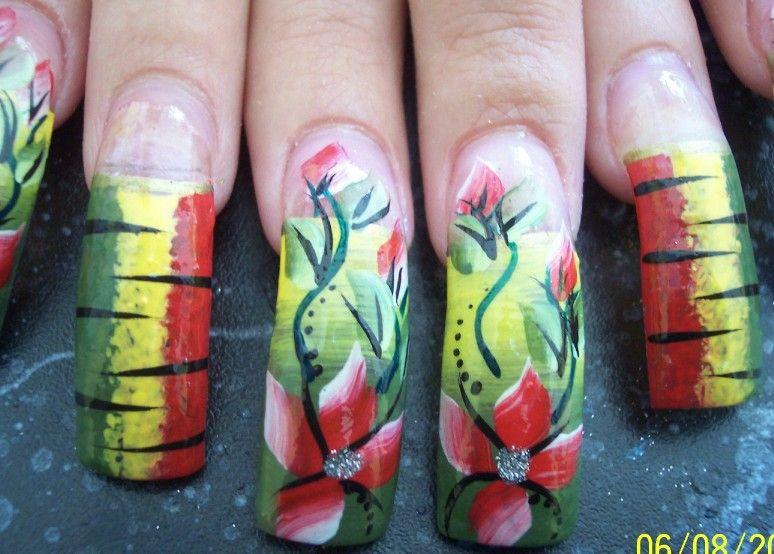 Nail-E-Glance: Rasta Nails   ....Nail it!   Pinterest   Rasta nails ...