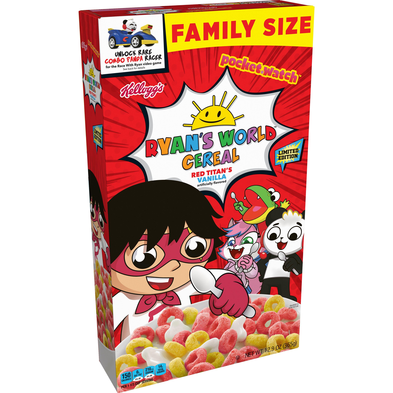 Kellogg S Ryans World Red Titan S Vanilla Breakfast Cereal 12 5 Oz Walmart Com In 2020 Breakfast Cereal Cereal Candy Station