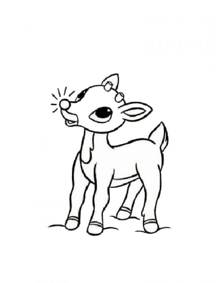 Printable Christmas Reindee Coloring Pages