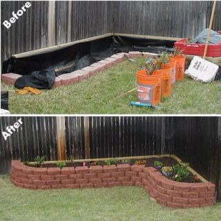 Raised Flower Beds... I want a raised bed along the entirety of my back yard fence... And to plant roses! Roses roses roses!