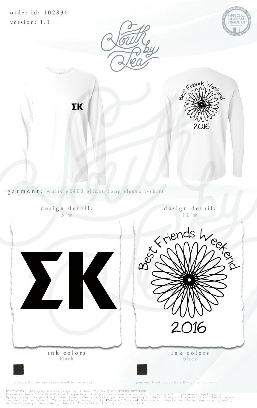 dff4d5ad9a2e9c Sigma Kappa | Best Friends Weekend | Floral T-Shirt Design | South by Sea