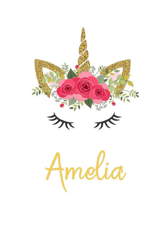 A super pretty, personalised, UNFRAMED print for all of ...