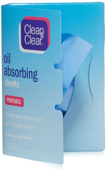 Clean & Clear Oil-Absorbing Sheets, 50 Count (Pack of 2)