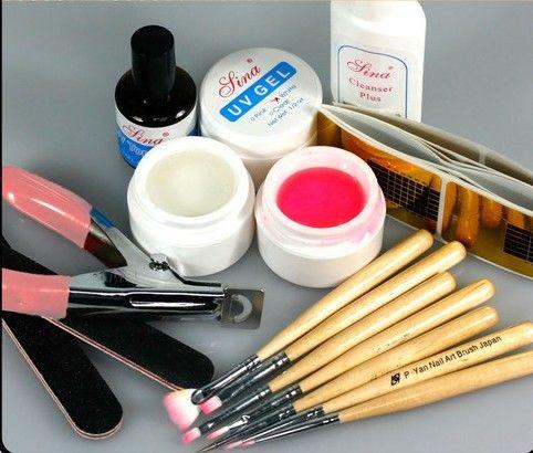 uv acrylic gel topcoat cleanser brush nail art start basic