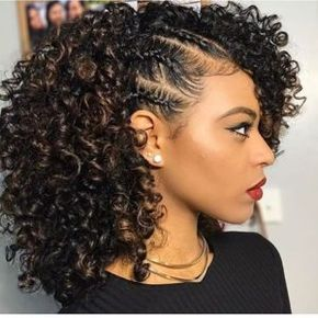 Natural Hairstyles For Medium Length Hair Natural Hairstyles Natural Hair Styles Medium Curly Hair Styles Cute Curly Hairstyles