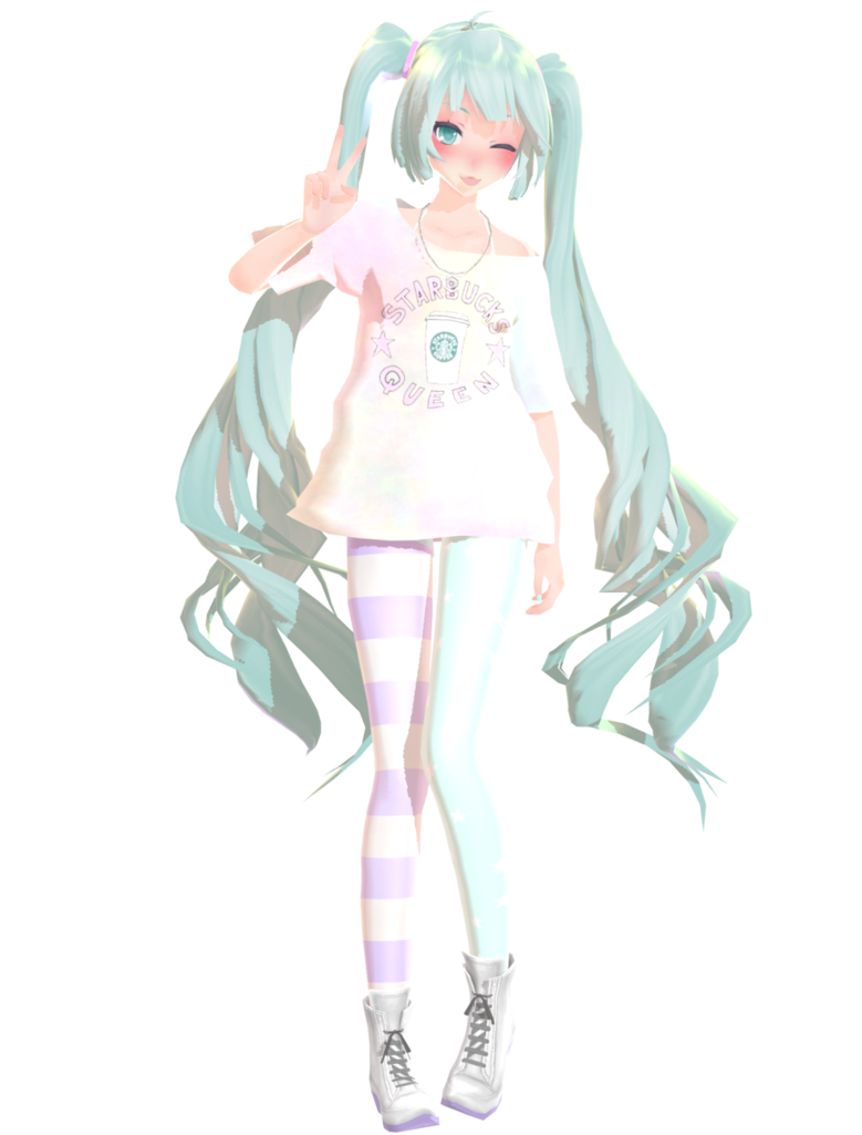 Pastel Miku [MMD] by NastyaSizaya on DeviantArt | anime