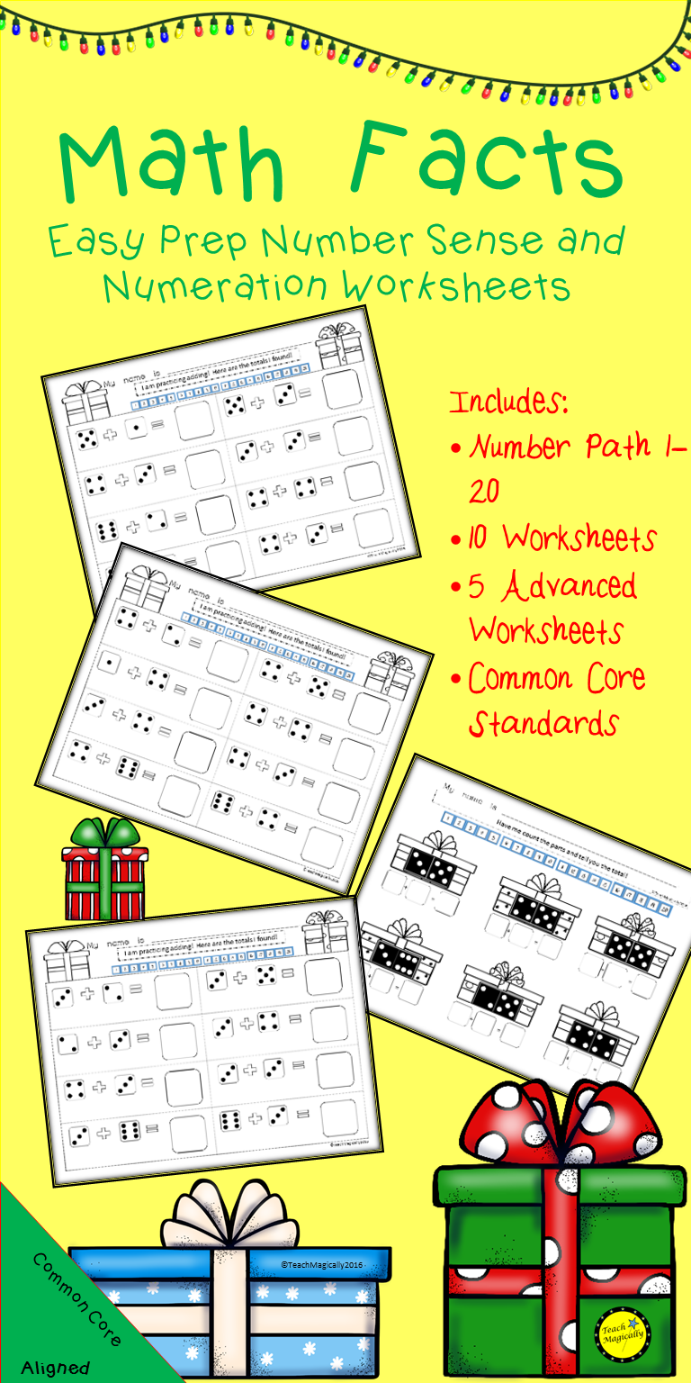 Math Facts Number Sense and Numeration Easy Prep Worksheets ...