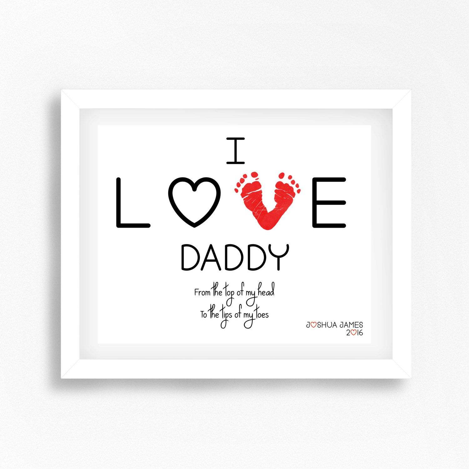 New Dad Fathers Day Gift From Baby For By PerfectLittlePrints