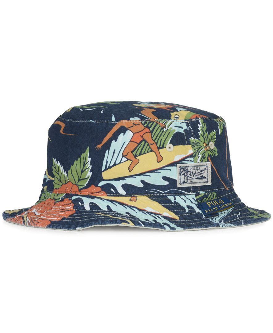 8075943532c Polo Ralph Lauren Big and Tall Reversible Tropical Bucket Hat