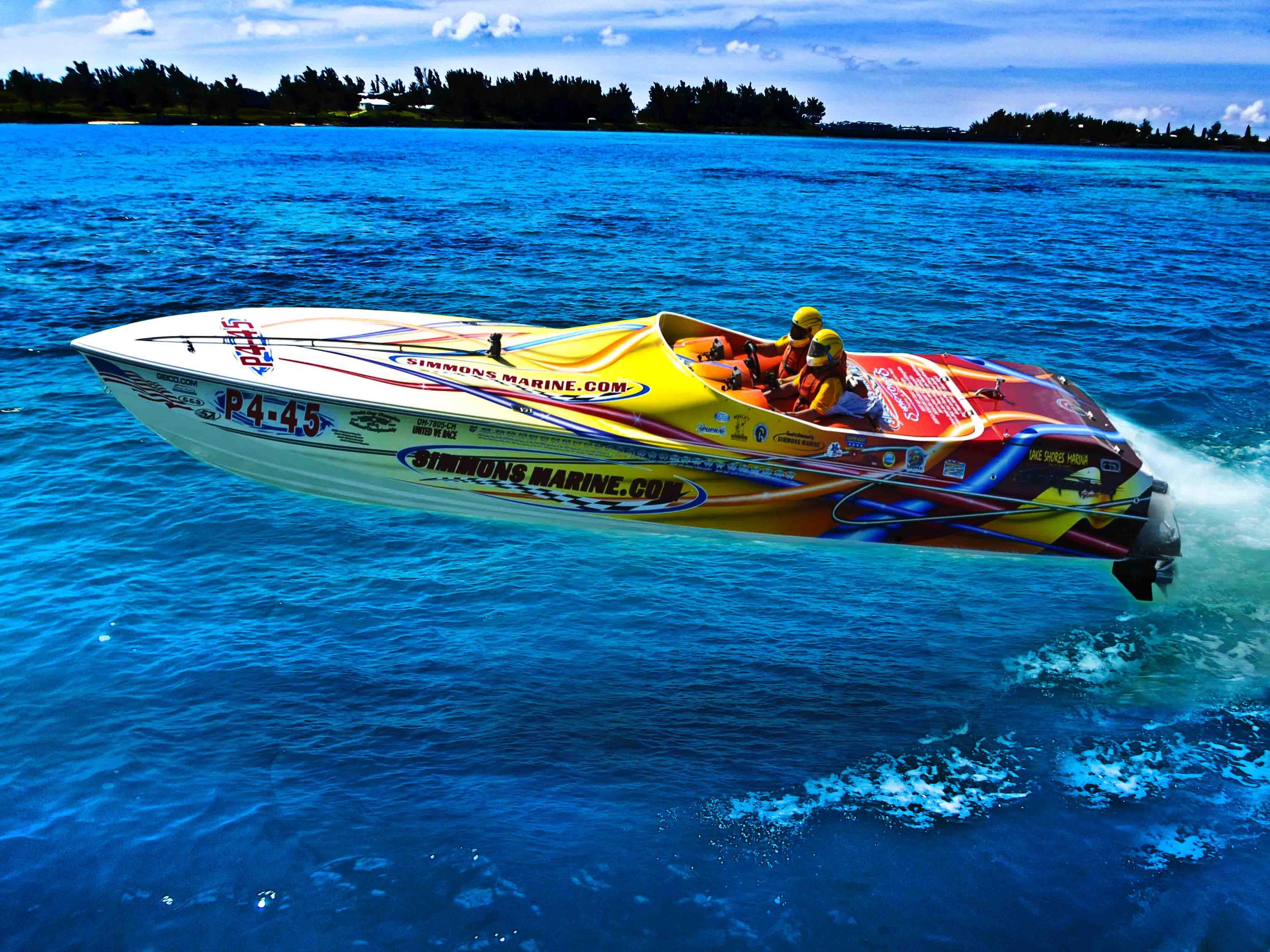 A Lot Of Attitude Boat Race Bermuda Boat Boat Race Power Boats
