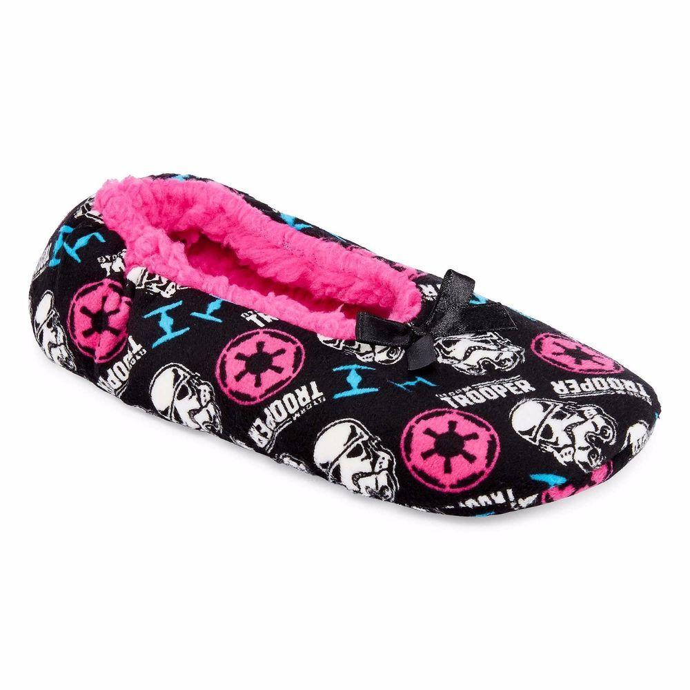 8253f3eae1b Star Wars Fuzzy Babba Slipper Socks Black Multi Girls Kids size M-L NEW  9.99 free us