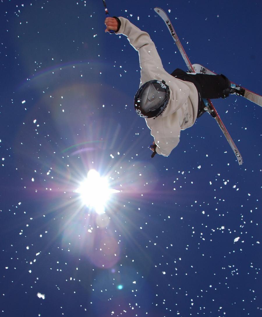 World Cup mogul competitor Patrick Deneen, summer skiing at