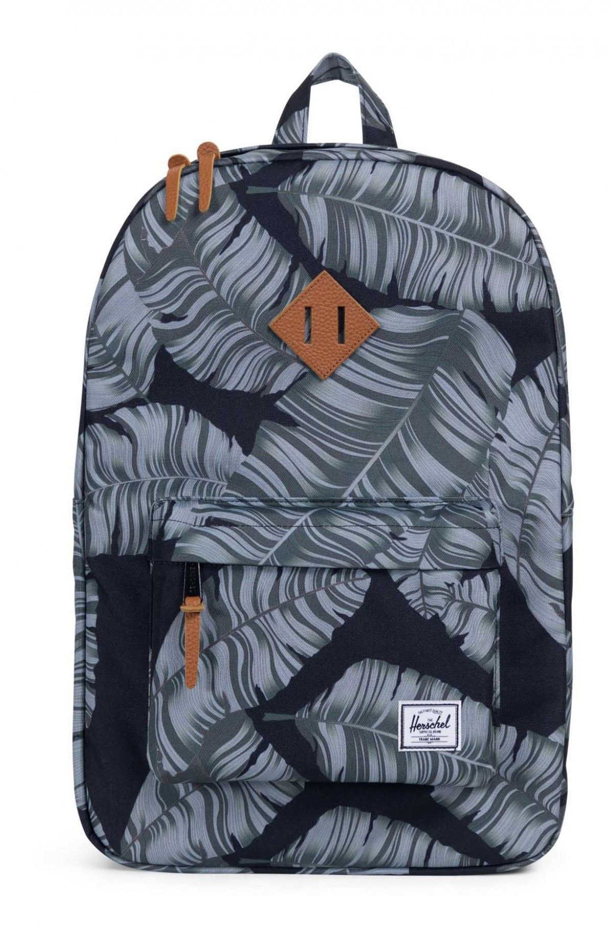 808fafb453 Herschel Heritage Backpack 600D Poly Black Palm