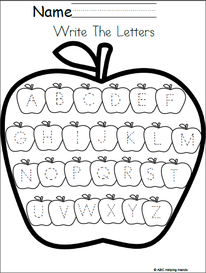 Editable Letter Writing Worksheet Apples Theme Pinterest Free