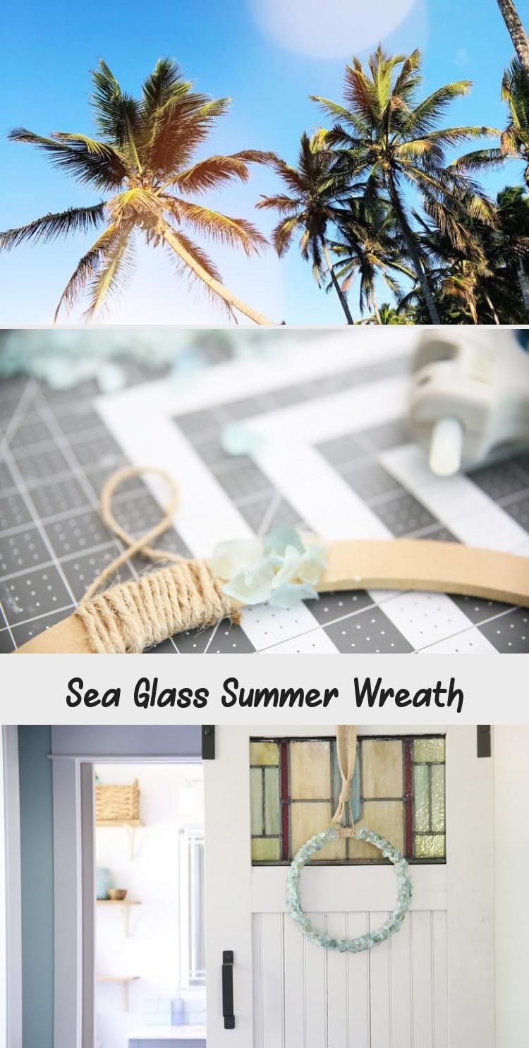 Add a little fun to your home decor with this simple sea glass wreath. A great project for any age. #wreath #decor #summerwreath #kidproject #door #home decor #kidcraft #easywreath #seaglass #bluewreath #prettywreath #easydecor #girlsroom #summercraft #HomeDecorDIYVideosOnABudget #HomeDecorDIYVideosApartment #HomeDecorDIYVideosIdeas #HomeDecorDIYVideosCheap #HomeDecorDIYVideosBedroom
