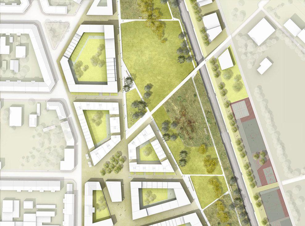 Stadtraum bayerischer bahnhof atelier loidl landscape for Site plan design
