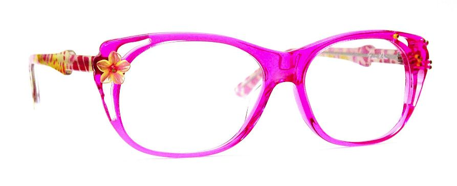 Hot pink with flowers eyeglass frames. | Accessorize me | Pinterest ...
