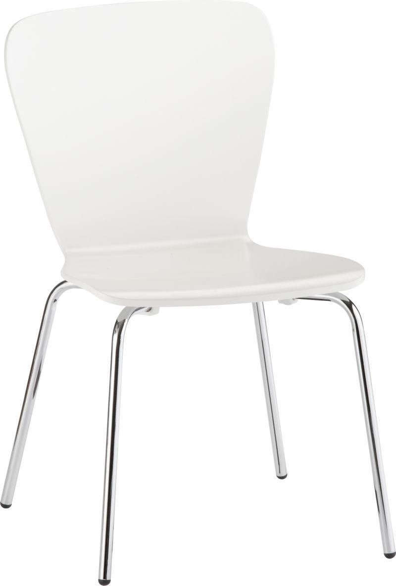 Felix White Side Chair | Crate & Barrel $79.95 http://www ...
