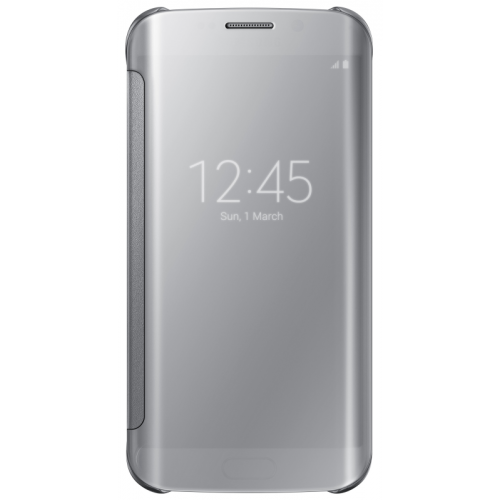 Samsung Clear View Case suits Samsung Galaxy S6 Edge - Silver