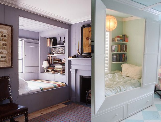 Some ideas for the alcove bed in the attic.