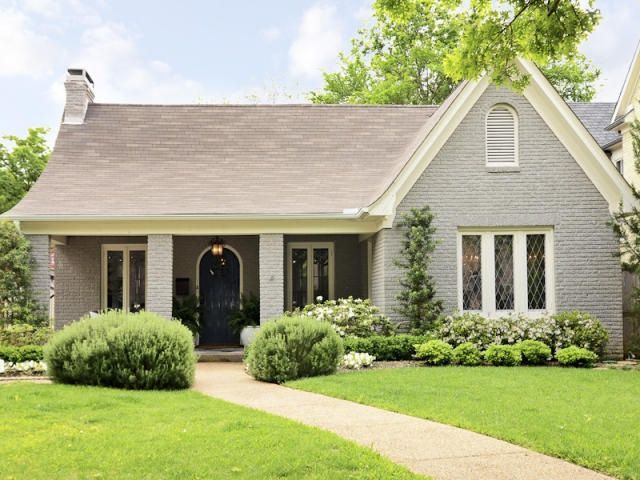 Painted Brick Ranch Style Tudor Nice Colour Of Gray