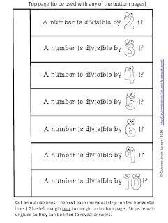 Interactive Notebook Pages Divisibility Rules Divisibility Rules Interactive Notebooks Math Interactive Notebook